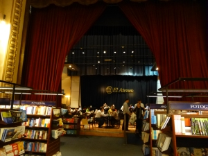 Theatre stage/bookshop cafe