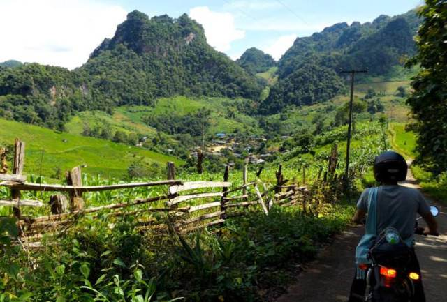 village in fertile valley