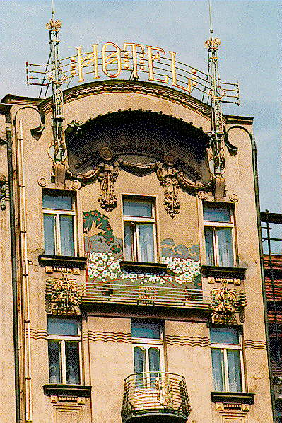 Prague Art Nouveau building