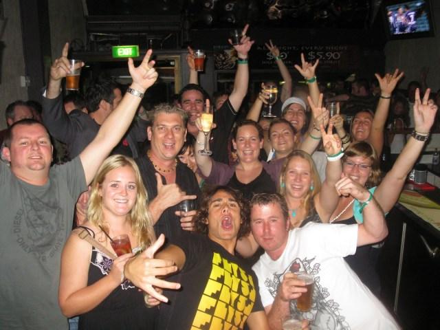 bogans in a bar