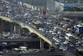 beijing trffic jam on several levels